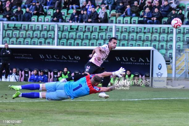 Luca Ficarotta and Antonino Calandra during the serie D match between SSD Palermo and ASD Troina at Stadio Renzo Barbera on December 22, 2019 in...