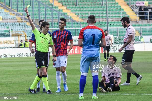 Luca Ficarotta during the serie D match between SSD Palermo and ASD Troina at Stadio Renzo Barbera on December 22, 2019 in Palermo, Italy.