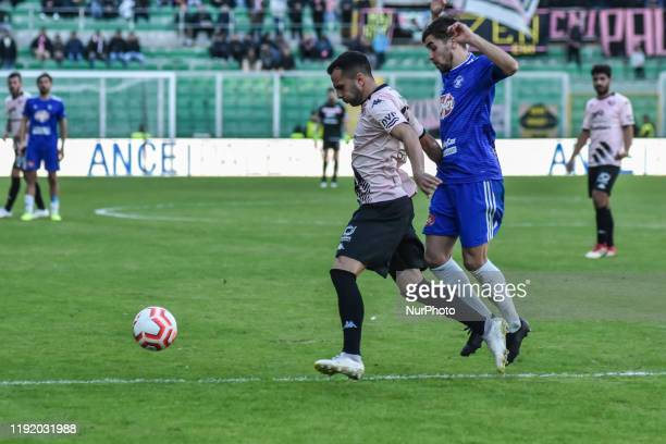Luca Ficarotta during the serie D match between SSD Palermo and Marsala at Stadio Renzo Barbera on January 05 2020 in Palermo Italy
