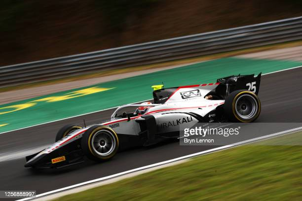 Luca Ghiotto of Italy and Hitech Grand Prix drives during the feature race for the Formula 2 Championship at Hungaroring on July 18, 2020 in...