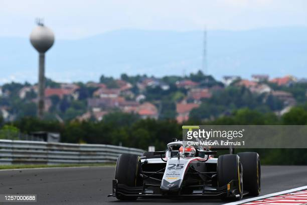 Luca Ghiotto of Italy and Hitech Grand Prix drives during the sprint race of the Formula 2 Championship at Hungaroring on July 19, 2020 in Budapest,...