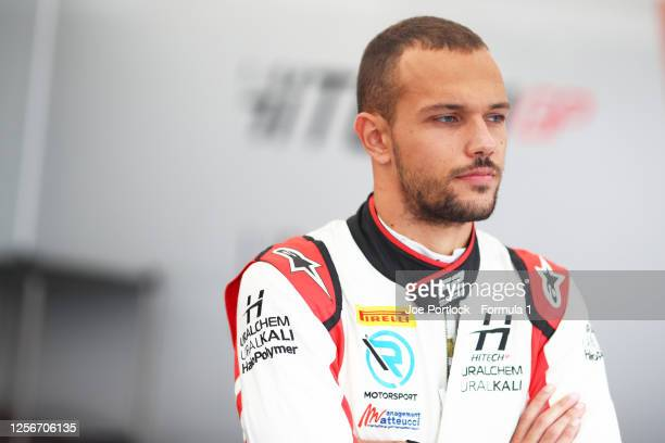 Luca Ghiotto of Italy and Hitech Grand Prix prepares for Qualifying for the Formula 2 championship at Hungaroring on July 17, 2020 in Budapest,...