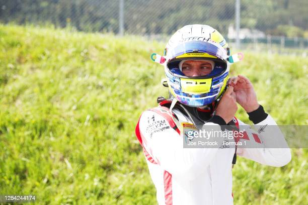 Luca Ghiotto of Italy and Hitech Grand Prix prepares for the Feature race at the Bull Ring on July 04, 2020 in Spielberg, Austria.
