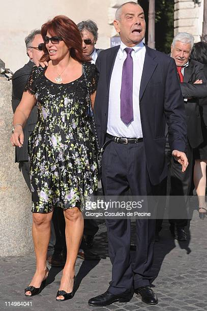 Luca Giurato and Daniela Vergara arrive at the Quirinale Palace to attend the Annual Party hosted by Italy's President Giorgio Napolitano on May 31...