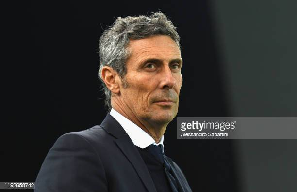 Luca Gotti head coach of Udinese Calcio looks on during the Serie A match between Udinese Calcio and SSC Napoli at Stadio Friuli on December 7, 2019...