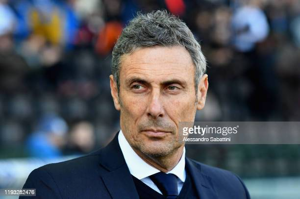 Luca Gotti head coach of Udinese Calcio looks on during the Serie A match between Udinese Calcio and US Sassuolo at Stadio Friuli on January 12, 2020...
