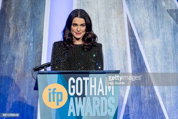 Luca Guadag ninospeaks onstage during IFP's 27th Annual Gotham Independent Film Awards at Cipriani Wall Street on November 27 2017 in New York City