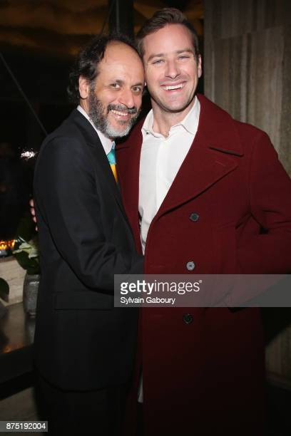 Luca Guadagnino and Armie Hammer attend Calvin Klein and The Cinema Society host the after party for Sony Pictures Classics' Call Me By Your Name on...