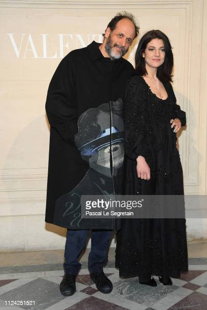 Luca Guadagnino and Esther Garrel attend the Valentino Haute Couture Spring Summer 2019 show as part of Paris Fashion Week on January 23 2019 in...