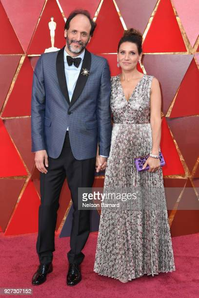 Luca Guadagnino and Monica Guadagnino attend the 90th Annual Academy Awards at Hollywood Highland Center on March 4 2018 in Hollywood California