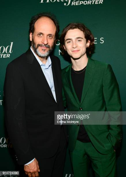 Luca Guadagnino and Timothee Chalamet attend The Hollywood Reporter 6th Annual Nominees Night at CUT on February 5 2018 in Beverly Hills California