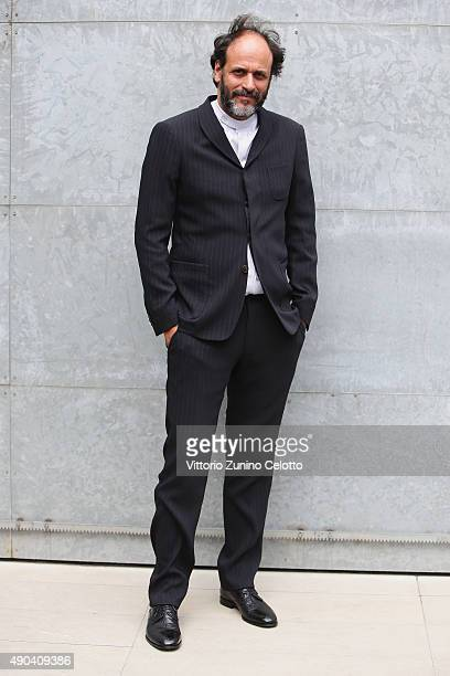 Luca Guadagnino arrives at the Giorgio Armani show during the Milan Fashion Week Spring/Summer 2016 on September 28 2015 in Milan Italy