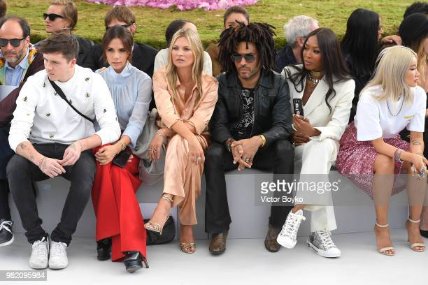 Luca Guadagnino Brooklyn Beckham Victoria Beckham Kate Moss Lenny Kravitz and Naomi Campbell attend the Dior Homme Menswear Spring/Summer 2019 show...