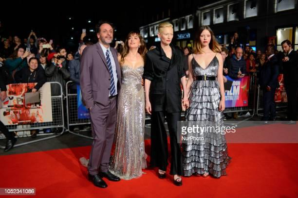 Luca Guadagnino Dakota Johnson TIlda Swinton and Mia Goth attends the UK Premiere of 'Suspiria' amp Headline Gala during the 62nd BFI London Film...