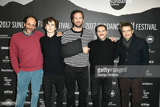 Luca Guadagnino Timothee Chalamet Armie Hammer Michael Stuhlbarg and Walter Fasano attend the 'Call Me By Your Name' Premiere on day 4 of the 2017...