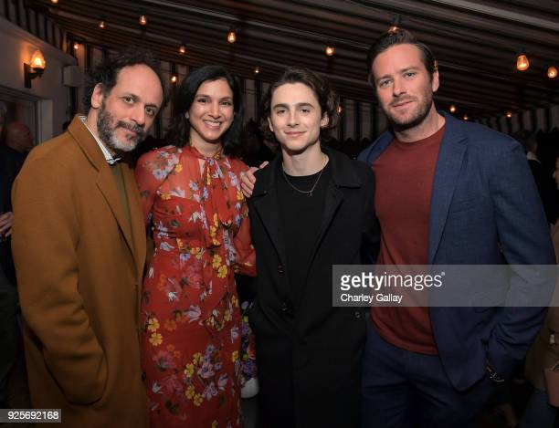 Luca Guadagnino Vanity Fair EditorinChief Radhika Jones Timothee Chalamet and Armie Hammer attend the Vanity Fair and Barneys New York celebration of...