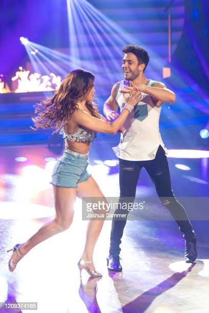 Luca Haenni and Christina Luft perform on stage during the 1st show of the 13th season of the television competition Let's Dance on February 28 2020...