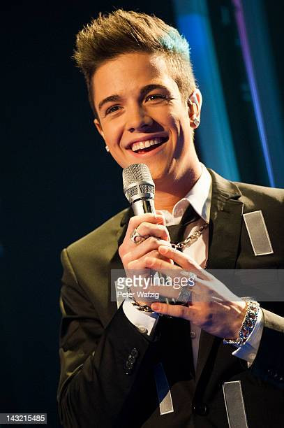 Luca Haenni performs during the 'Deutschland Sucht Den Superstar' Semifinal Rehearsal at Coloneum on April 21 2012 in Cologne Germany