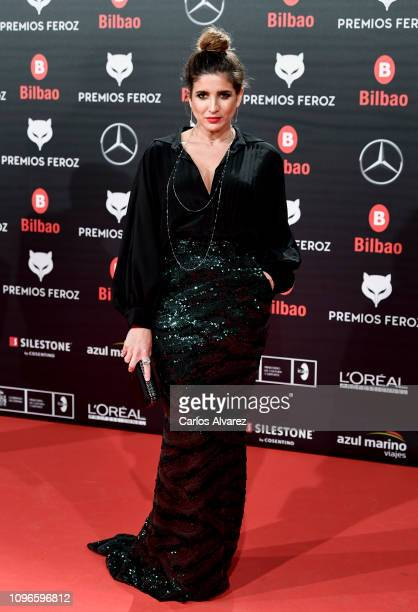 Lucía Jimenez attends during Feroz awards red carpet on January 19 2019 in Bilbao Spain