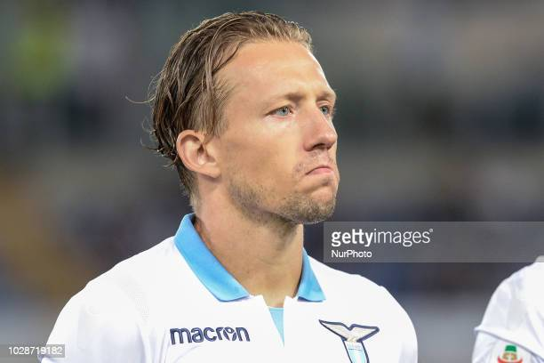 Luca Leiva during the Italian Serie A football match between SS Lazio and Frosinone at the Olympic Stadium in Rome on september 02 2018