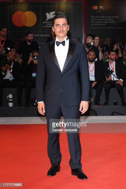 """Luca Marinell walks the red carpet ahead of the """"Martin Eden"""" screening during the 76th Venice Film Festival at Sala Grande on September 02, 2019 in..."""