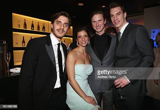 Luca Marinelli Ada Condeescu Mikkel Boe Folsgaard and Jure Henigman attend 'BMW Golden Bear Lounge' at the 63rd Berlinale International Film Festival...