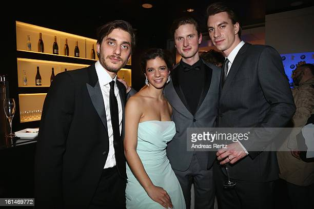 Luca Marinelli Ada Condeescu Mikkel Boe Folsgaard and Jure Henigman attend 'BMW Golden Bear Lounge' at the 63rd Berlinale International Film Festival...