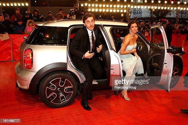 Luca Marinelli and Ada Condeescu attend 'Mini Shooting Stars' BMW at the 63rd Berlinale International Film Festival at the BerlinalePalast on...
