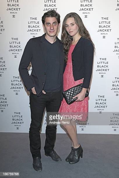 Luca Marinelli and Alissa Jung attend CHANEL 'The Little Black Jacket' Exhibition Opening by Karl Lagerfeld and Carine Roitfeld on November 20 2012...