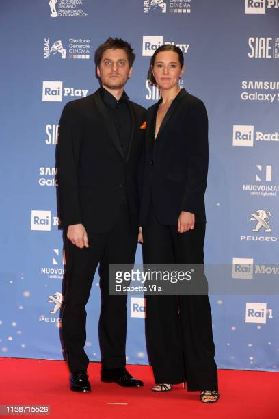Luca Marinelli and Alissa Jung attend the 64 David Di Donatello awards on March 27 2019 in Rome Italy