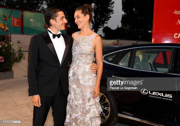 Luca Marinelli and Alissa Jung attend the Martin Eden screening during the 76th Venice Film Festival at Sala Grande on September 02 2019 in Venice...