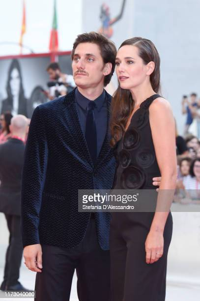 Luca Marinelli and Alissa Jung walk the red carpet ahead of the closing ceremony of the 76th Venice Film Festival at Sala Grande on September 07 2019...