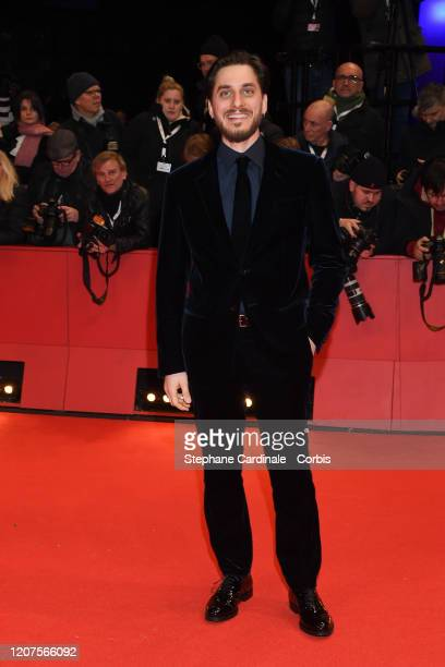 Luca Marinelli arrives for the opening ceremony and My Salinger Year premiere during the 70th Berlinale International Film Festival Berlin at...