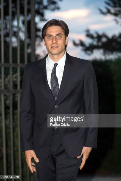 Luca Marinelli attends Globi D'Oro awards ceremony at the Academie de France Villa Medici on June 13 2018 in Rome Italy