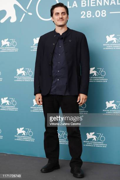 """Luca Marinelli attends """"Martin Eden"""" photocall during the 76th Venice Film Festival at Sala Grande on September 02, 2019 in Venice, Italy."""