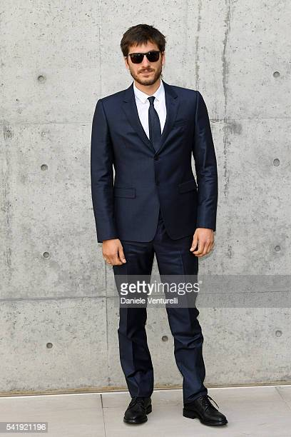 Luca Marinelli attends the Giorgio Armani show during Milan Men's Fashion Week SS17 on June 21, 2016 in Milan, Italy.
