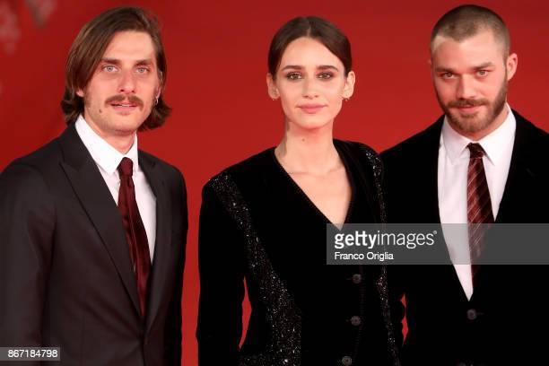Luca Marinelli Valentina Belle and Lorenzo Richelmy walks a red carpet for 'Una Questione Privata Red' during the 12th Rome Film Fest at Auditorium...