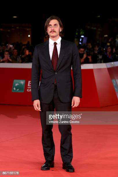 Luca Marinelli walks a red carpet for 'Una Questione Privata' during the 12th Rome Film Fest at Auditorium Parco Della Musica on October 27 2017 in...