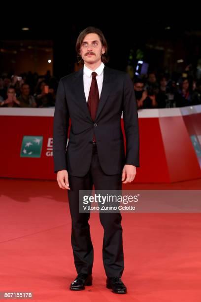 Luca Marinelli walks a red carpet for 'Una Questione Privata' during the 12th Rome Film Fest at Auditorium Parco Della Musica on October 27, 2017 in...