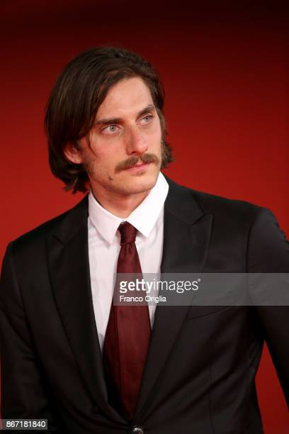 Luca Marinelli walks a red carpet for 'Una Questione Privata Red' during the 12th Rome Film Fest at Auditorium Parco Della Musica on October 27, 2017...