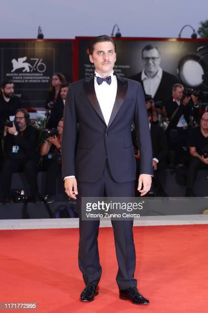 """Luca Marinelli walks the red carpet ahead of the """"Martin Eden"""" screening during the 76th Venice Film Festival at Sala Grande on September 02, 2019 in..."""