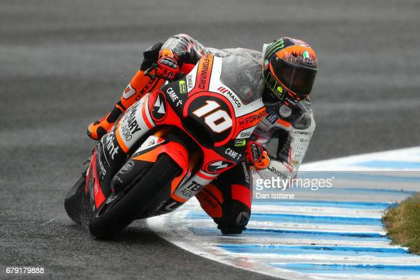 Luca Marini of Italy and the Forward Racing Team rides during free practice for Moto2 at Circuito de Jerez on May 5 2017 in Jerez de la Frontera Spain