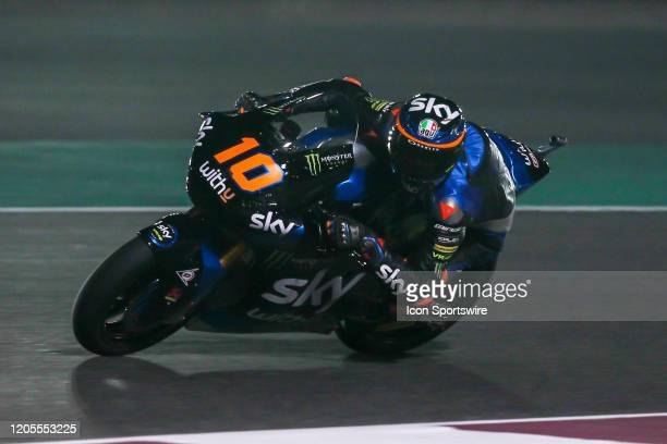 Luca Marini of SKY Racing Team VR46 in action during Fridays free practice session of QNB Qatar Motorcycle Grand Prix held on March 06 at Local...