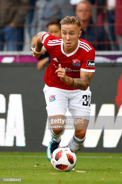 Luca Marseiler of Unterhaching during the 3 Liga match between SV Meppen and SpVgg Unterhaching at HaenschArena on September 22 2018 in Meppen Germany