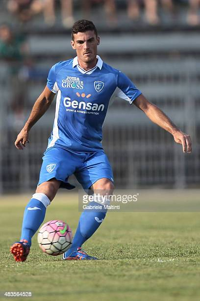 Luca Martinelli of Empoli FC in action during the preseason friendly match between Empoli FC and Genoa CFC on August 8 2015 in Massa Italy