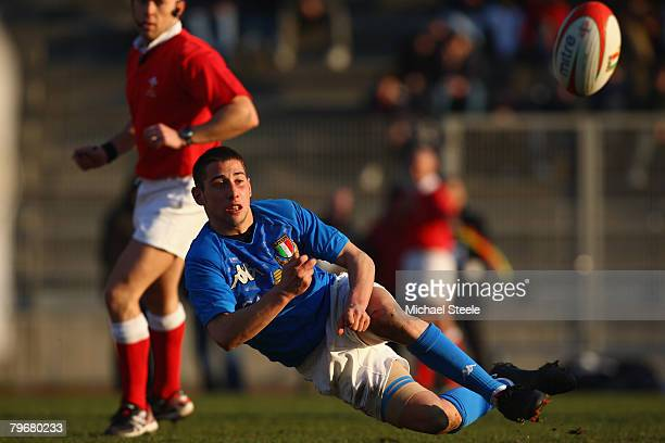 Luca Martinelli of Italy during the U20 International match between Italy and England at the Stadio Sciorba on February 9 2008 in GenoaItaly