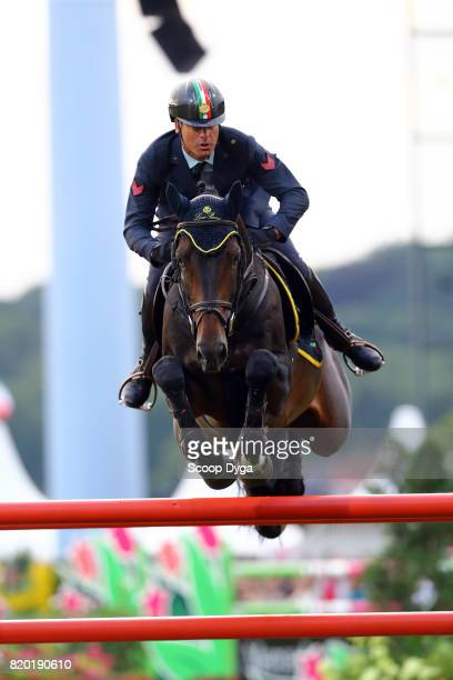 Luca MARZIANI riding TOKYO DU SOLEIL during the Prize of North RhineWestphalia of the World Equestrian Festival on July 21 2017 in Aachen Germany