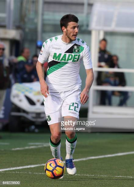 Luca Mazzitelli of Sassuolo during the Serie A match between FC Crotone and US Sassuolo at Stadio Comunale Ezio Scida on March 5 2017 in Crotone Italy