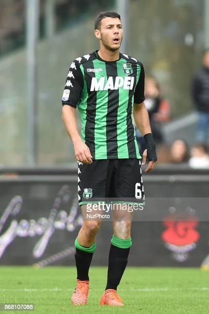 Luca Mazzitelli of US Sassuolo during the Serie A TIM match between SSC Napoli and US Sassuolo at Stadio San Paolo Naples Italy on 29 October 2017
