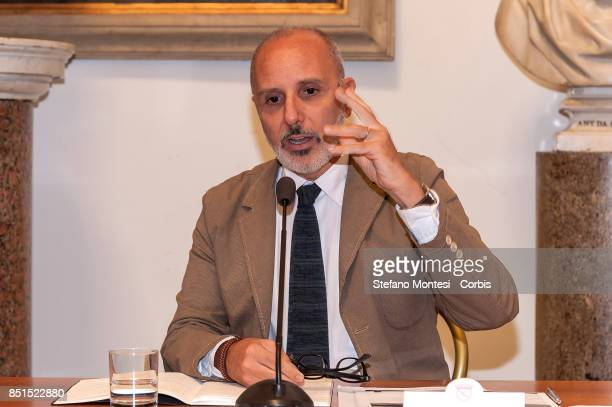 Luca Montuori Councillor for Urban Planning present the project for the requalification of the former General Markets on September 22 2017 in Rome...